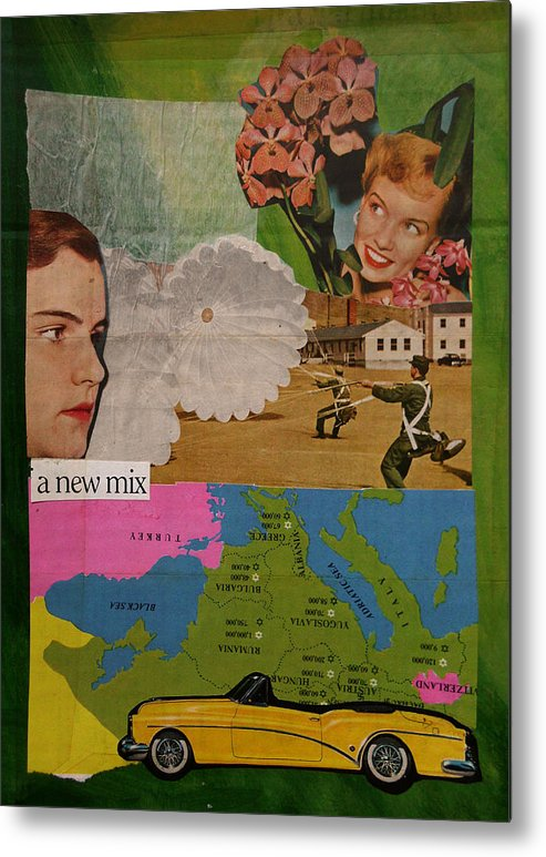 Mix Metal Print featuring the mixed media A New Mix by Adam Kissel