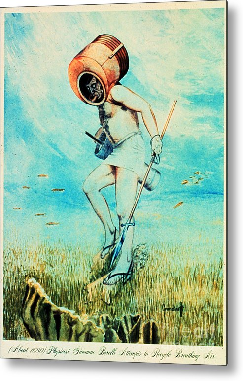 Giovanni Borelli Metal Print featuring the photograph Giovanni Borelli Underwater by Science Source