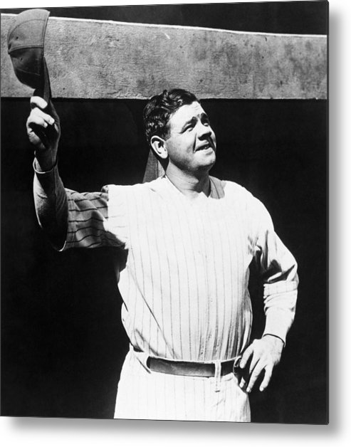 1930s Candid Metal Print featuring the photograph Babe Ruth 1895-1948, American Baseball by Everett