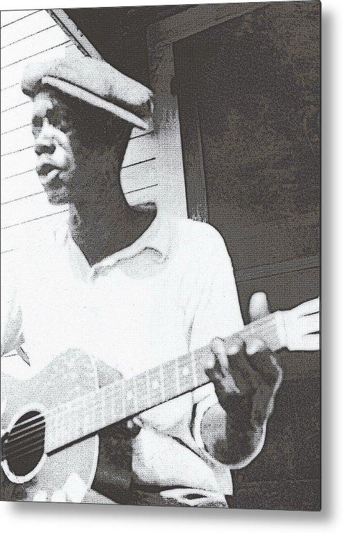 Guitar Metal Print featuring the photograph Bill Tatnall 1935 by Daniel Hagerman