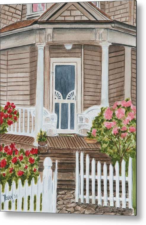 Architecture Metal Print featuring the painting Welcome by Regan J Smith