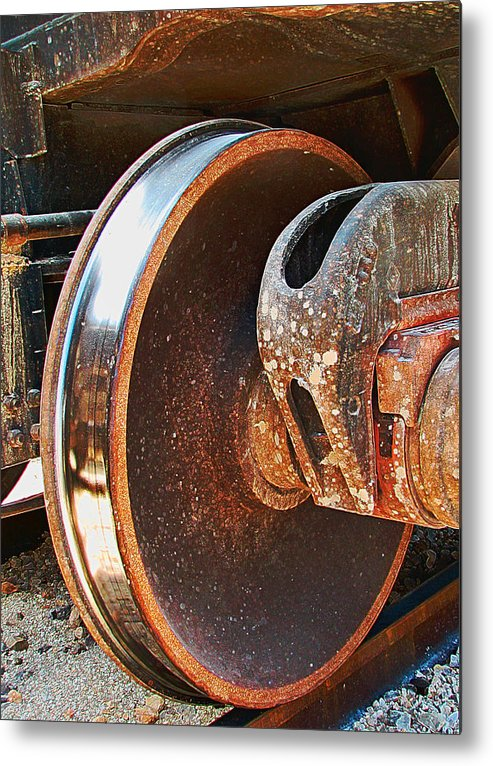 Train Metal Print featuring the photograph What Lies Beneath by Wendy J St Christopher