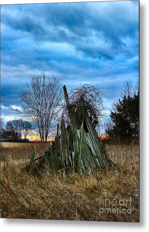 Woodstacks Metal Print featuring the photograph The Woodstack by Julie Dant