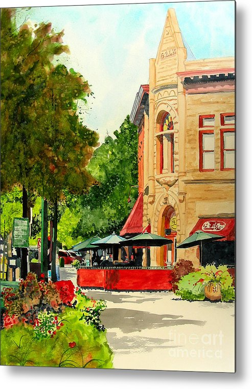 Watercolor Metal Print featuring the painting Beau Jo's Down Low by Tom Riggs