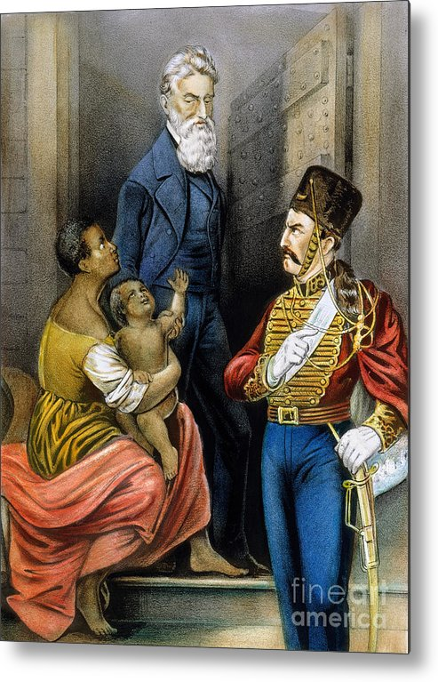 19th Century Metal Print featuring the photograph John Brown (1800-1859) by Granger
