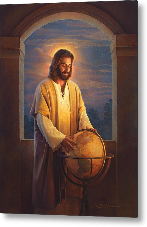 Jesus Metal Print featuring the painting Peace On Earth by Greg Olsen