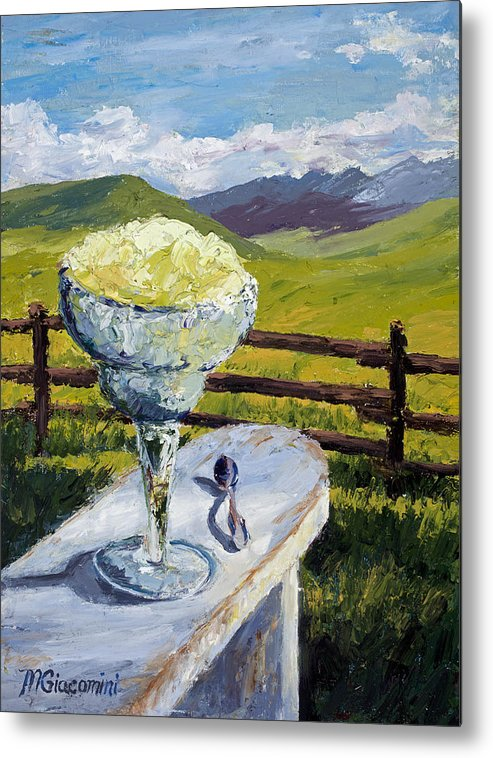 Oil Metal Print featuring the painting With Salt by Mary Giacomini