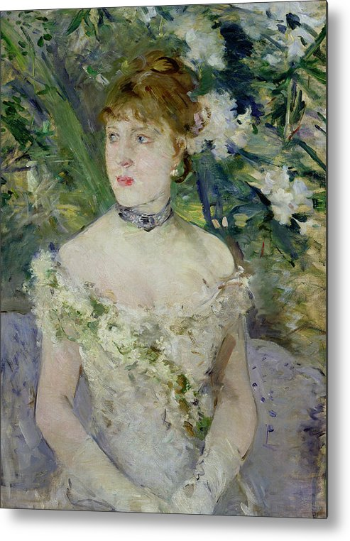 Young Metal Print featuring the painting Young Girl In A Ball Gown by Berthe Morisot