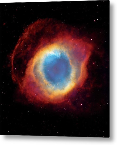 Universe Metal Print featuring the photograph Watching - Helix Nebula by The Vault - Jennifer Rondinelli Reilly