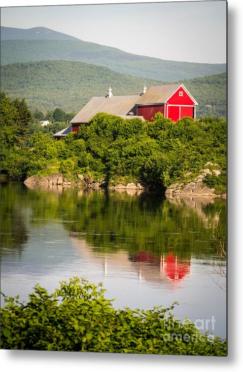 Collection Metal Print featuring the photograph Connecticut River Farm by Edward Fielding