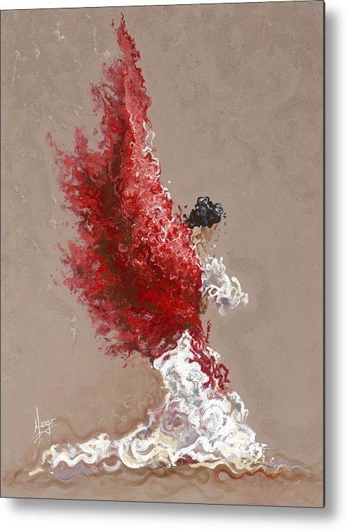 Dance Metal Print featuring the painting Fire by Karina Llergo Salto