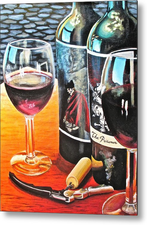 Wine Paintings Metal Print featuring the painting Friends From Napa by Tim Eickmeier
