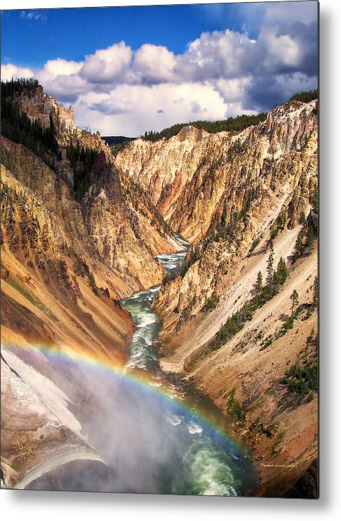 Yellowstone Metal Print featuring the photograph Grand Canyon Of Yellowstone 1 by Thomas Woolworth