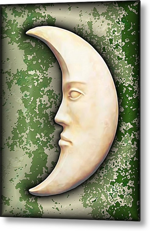 Moon Metal Print featuring the digital art I See The Moon 3 by Wendy J St Christopher