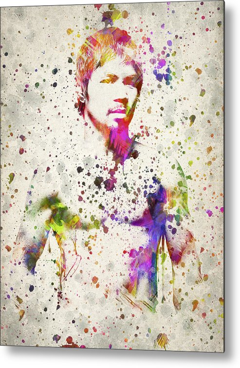 Manny Pacquiao Metal Print featuring the drawing Manny Pacquiao by Aged Pixel