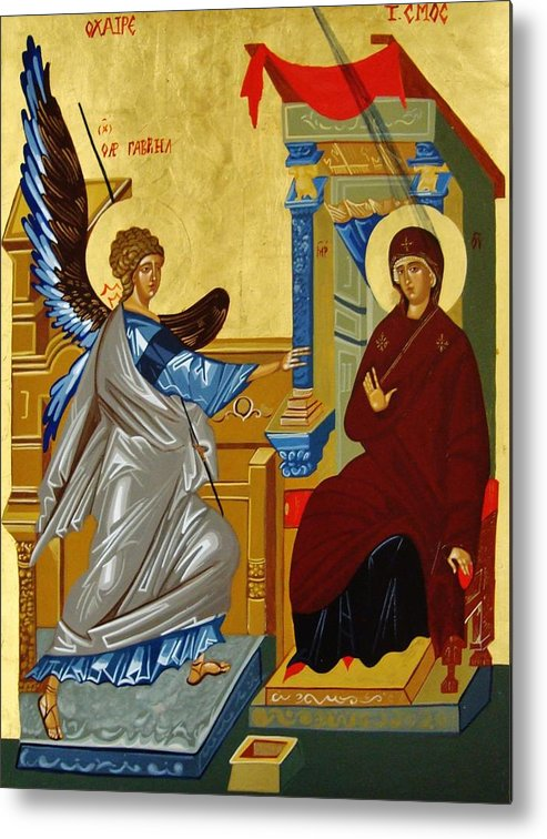 Annunciation Metal Print featuring the painting The Annunciation by Joseph Malham