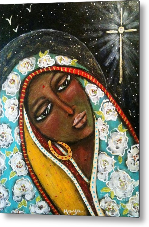 Christmas Metal Print featuring the painting The First Noel by Maya Telford