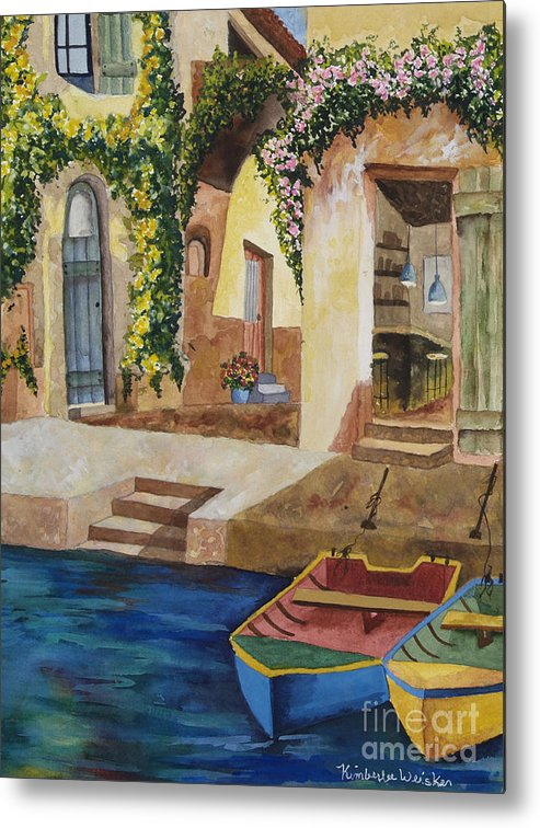 Authentic Inspiration Metal Print featuring the painting Afternoon At The Piazzo by Kimberlee Weisker