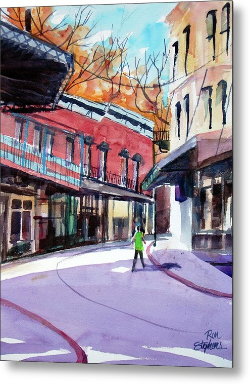 Store Fronts Metal Print featuring the painting Eureka Springs Ak 4 by Ron Stephens