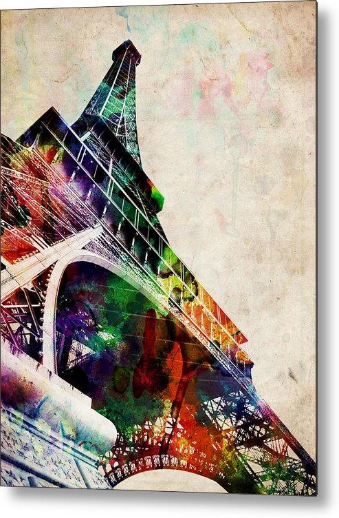 Eiffel Tower Metal Print featuring the digital art Eiffel Tower by Michael Tompsett