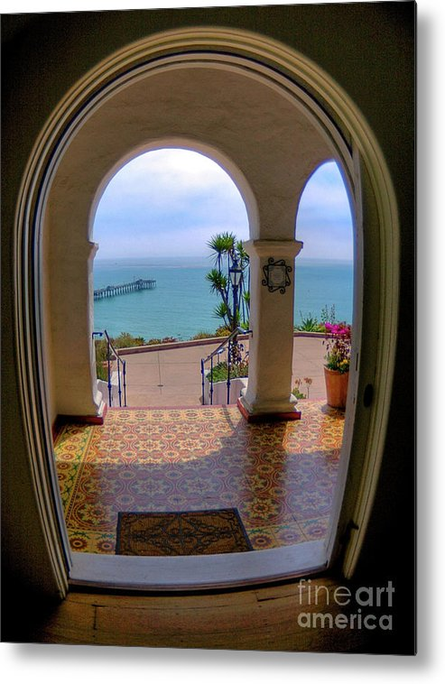 Blur Metal Print featuring the photograph Ocean View by Kim Michaels