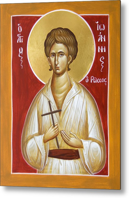 St John The Russian Metal Print featuring the painting St John The Russian by Julia Bridget Hayes