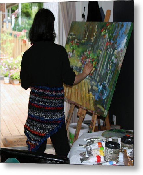 Behind The Scene Metal Print featuring the photograph Painting My Backyard 1 by Becky Kim