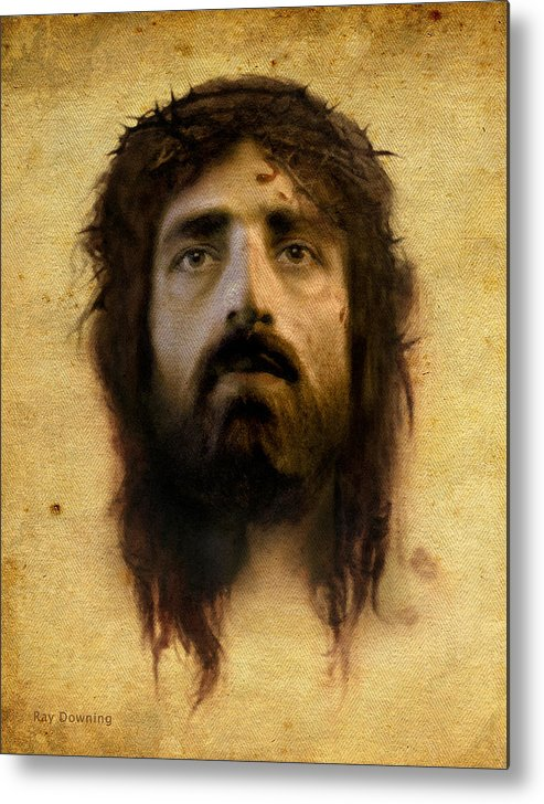 Jesus Metal Print featuring the digital art Veronica's Veil by Ray Downing