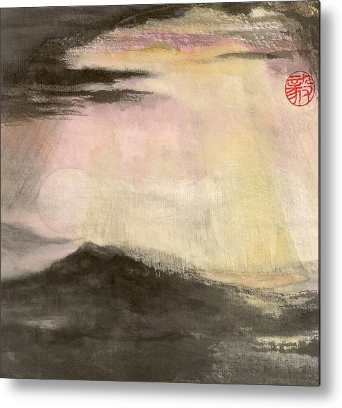 Japanese Metal Print featuring the painting Hope by Terri Harris