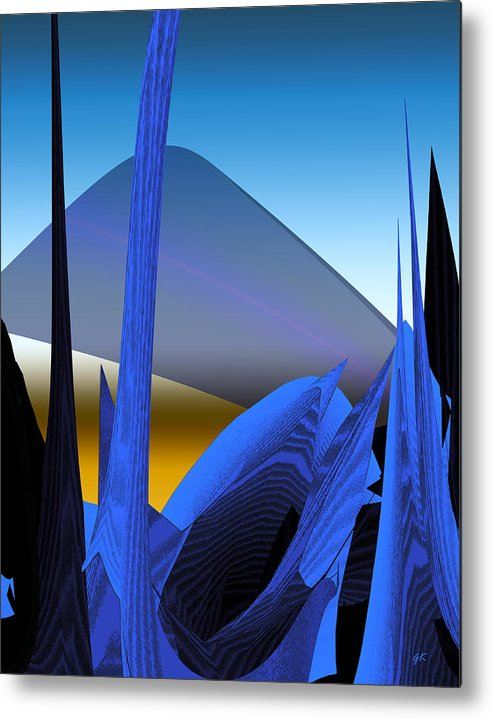 Digital Art Metal Print featuring the digital art Abstract 200 by Gerlinde Keating - Galleria GK Keating Associates Inc