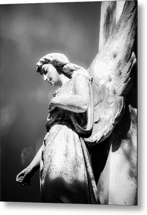 Angel Metal Print featuring the photograph Bokeh Angel In Infrared by Sonja Quintero
