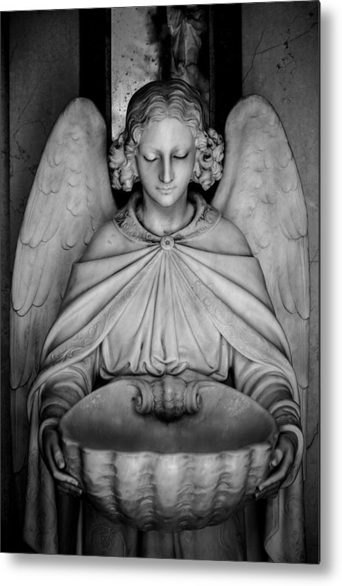 Angel Metal Print featuring the photograph Entrance Angel by Anthony Citro