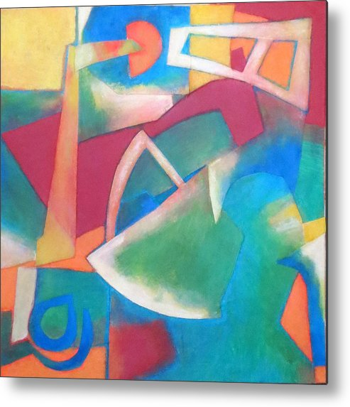 Abstract Expressionism Metal Print featuring the mixed media Jazz by Diane Fine