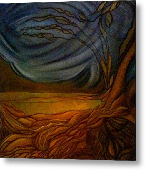 Landscape Metal Print featuring the painting Untitled by Juliann Sweet