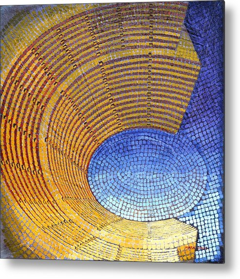 Roman Metal Print featuring the painting Auditorium by Mark Howard Jones