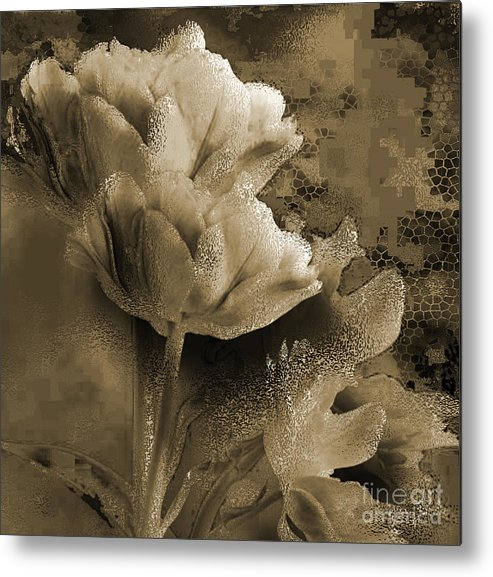 Metal Print featuring the mixed media Elegance by Yanni Theodorou