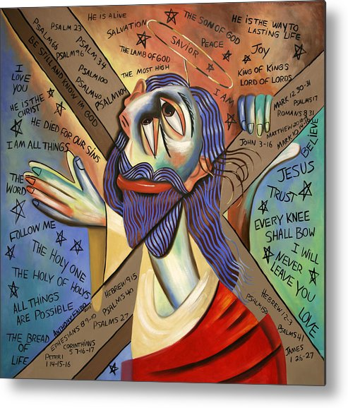Jesus Metal Print featuring the painting Jesus by Anthony Falbo
