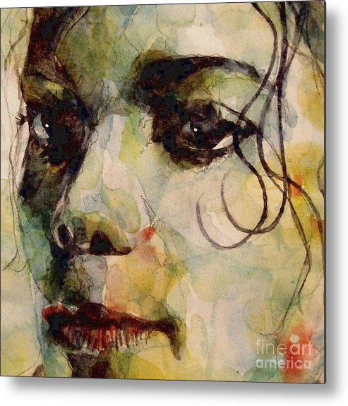 Michael Jackson Metal Print featuring the painting Man In The Mirror by Paul Lovering