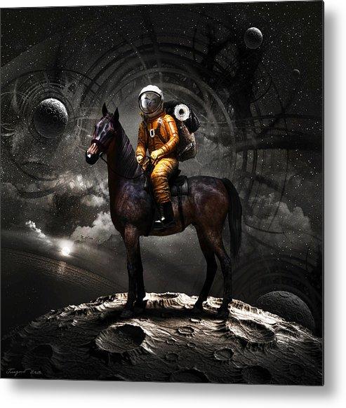 Space Metal Print featuring the digital art Space Tourist by Vitaliy Gladkiy