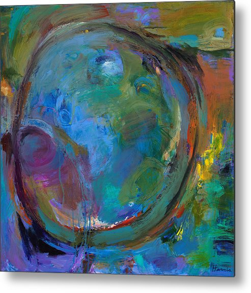 Abstract Expressionistic Metal Print featuring the painting Back To Forgotten Times by Johnathan Harris