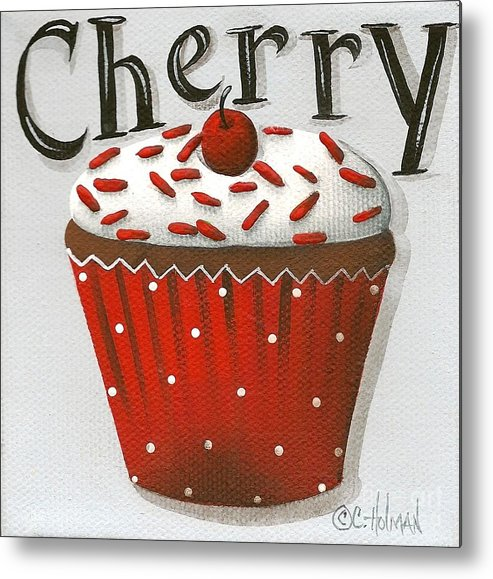 Art Metal Print featuring the painting Cherry Celebration by Catherine Holman