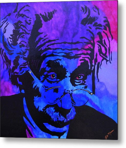 Einstein Paintings Metal Print featuring the painting Einstein-all Things Relative by Bill Manson