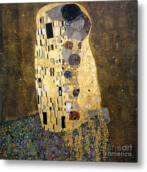1907 Metal Print featuring the photograph Klimt: The Kiss, 1907-08 by Granger