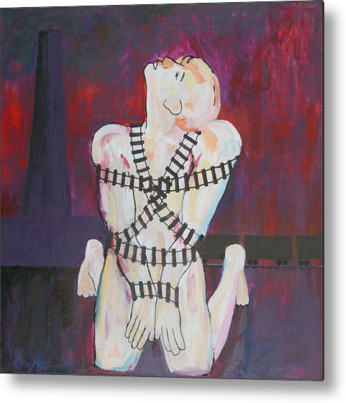Judaica Metal Print featuring the painting The Sacrifice by Mordecai Colodner