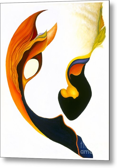 Sensual Metal Print featuring the painting Peek-a-boo by Joanna Pregon