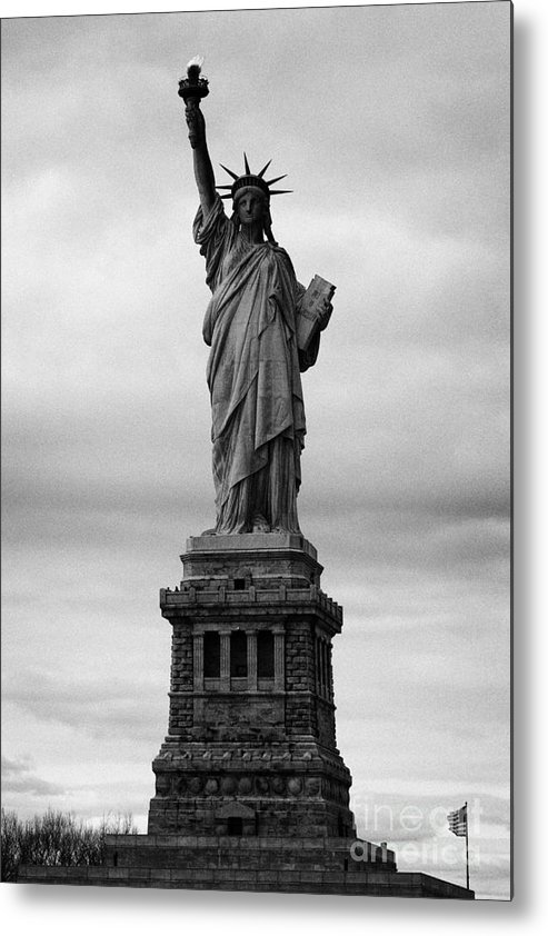 Usa Metal Print featuring the photograph Statue Of Liberty National Monument Liberty Island New York City Usa Nyc by Joe Fox
