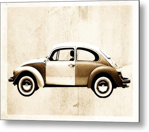 Beetle Metal Print featuring the digital art Beetle Car by David Ridley
