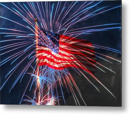 4th Metal Print featuring the digital art 4th Of July by Heidi Smith