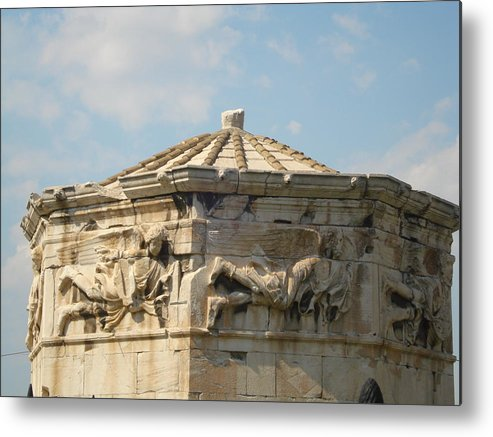 Pláka Is The Old Historical Neighborhood Of Athens Metal Print featuring the sculpture Aerides by Greek View