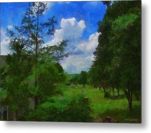 Back Yard Metal Print featuring the painting Back Yard View by Jeff Kolker